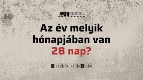 12 lehetséges válasz